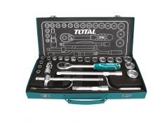10-32mm Bộ tuýp 1/2 inch 24 chi tiết Total THT141253