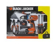 10.8V Li-On Máy khoan vặn vít kèm 60 chi tiết Black and Decker EGBL108PK