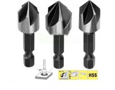 12,16,19mm Bộ 3 mũi vát mép lỗ INGCO DBCS0031