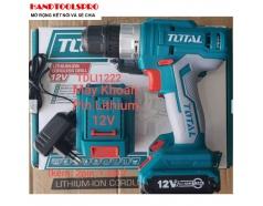 12V Máy khoan vặn vít dùng pin Total TDLI1222