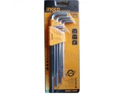 1.5-10mm Bộ 9 chìa lục giác đầu bằng INGCO HHK11092