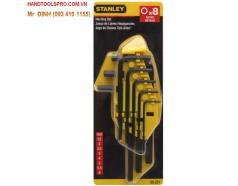 1.5mm-6mm Bộ lục giác 8 cây Stanley 69-251