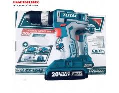 20V Máy khoan vặn vít dùng pin 50 chi tiết Total TIDLI2002