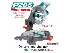 210mm Thân Máy cắt nhôm dùng pin Lithium 20V Total TMS2001