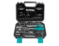 4-14mm Bộ tuýp 1/4 inch 45 chi tiết Total THT141451