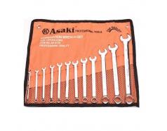6-22mm Bộ cờ lê vòng miệng xi bóng Asaki AK-6139