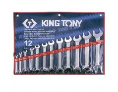 6-32mm bộ hai đầu miệng 12 cái hệ mét Kingtony 1112MR