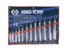 6-32mm bộ hai đầu miệng 12 cái hệ mét Kingtony 1712MR