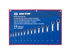 8-24mm Bộ cờ lê vòng miệng tự động 14 cái hệ mét Kingtony 12214MRN