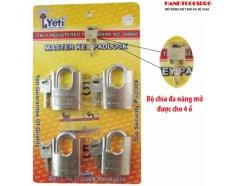 Bộ 4 ổ khóa chống cắt 60mm Yeti