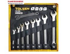 Bộ Chìa Khóa Vòng - Miệng Tolsen 15159 (8 Món) - Đen