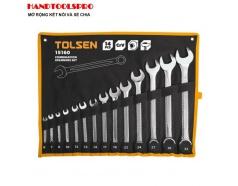 Bộ Chìa Khóa Vòng - Miệng Tolsen 15160 (14 Món) - Đen