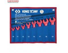 Bộ cờ lê cách điện 1000V 10-19mm 8 pcs Kingtony 12FVE08MRN