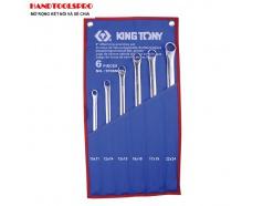 Bộ cờ lê hai đầu vòng thẳng siêu dài hệ mét 6 chi tiết Kingtony 1F06MRN