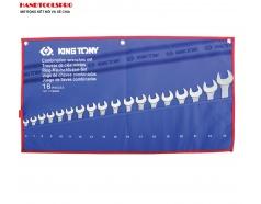 Bộ cờ lê vòng miệng 6-24mm  hệ mét 18 chi tiết Kingtony 1218MRN