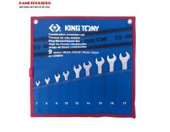 Bộ cờ lê vòng miệng 7-17mm 9 PCS Kingtony 1209MRN