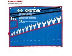 Bộ cờ lê vòng miệng hệ inch 16 chi tiết Kingtony 1216SRN
