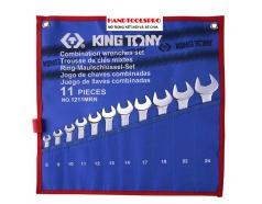 Bộ cờ lê vòng miệng hệ mét 11 chi tiết Kingtony 1211MRN