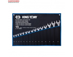 Bộ cờ lê vòng miệng siêu nhẹ 10-32mm 15 món KINGTONY 12D15MRN
