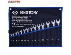 Bộ cờ lê vòng miệng siêu nhẹ 6-19mm Kingtony 12D14MRN05