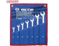 Bộ cờ lê vòng miệng siêu nhẹ 7 món 8-19mm KINGTONY 12C7MRN01