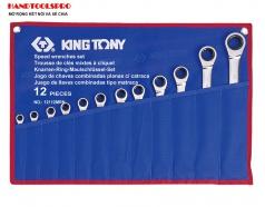 Bộ cờ lê vòng miệng tự động 12 chi tiết 8-24mm Kingtony 12112MRN