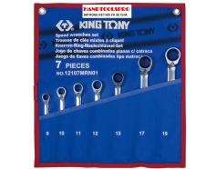 Bộ cờ lê vòng miệng tự động 7 chi tiết 8-19mm Kingtony 12107MRN01