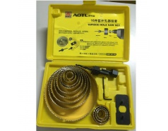Bộ công cụ khoét lỗ gỗ và thạch cao AOTL TOOLS 16 chi tiết AT029216