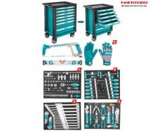 Bộ đồ nghề đa năng đựng trong tủ kéo 162 chi tiết TOTAL THPTCS71621