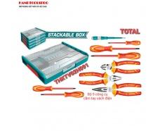 Bộ đồ nghề cách điện 1000V 9 chi tiết Total THKTV02H091