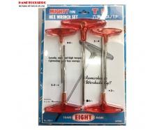 Bộ khóa đầu lục giác 5 chi tiết 2.5-6mm NHẬT BẢN EIGHT N0.018-1