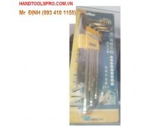 Bộ lục giác 9 chiếc hệ mét có tay vặn SENTAN HC-904