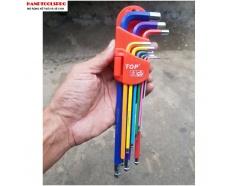 Bộ lục giác đầu bi 9 món dài ( nhiều màu sắc) TOP LU-9CMAU