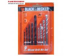 Bộ mũi khoan đa năng 9 chi tiết Black Decker A8106G