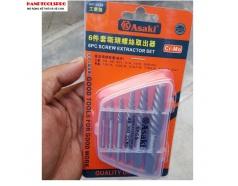 Bộ tháo bu lông ốc vít gẫy 6 chi tiết Asaki AK-3688