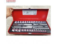 Bộ tuýp 36 chi tiết hệ inch và hệ mét Kingtony 3036CR