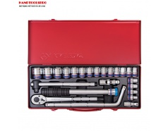 Bộ tuýp bông 24 chi tiết hệ mét 10-32mm Kingtony 4033MR03