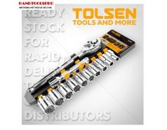 Bộ tuýp và cần mở 1/2 inch hệ inch 12 chi tiết TOLSEN 15392