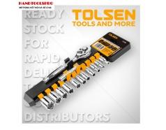Bộ tuýp và cần mở 1/4 inch hệ inch 13 chi tiết TOLSEN 15390