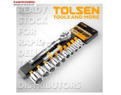 Bộ tuýp và cần mở 3/8 inch hệ inch 12 chi tiết TOLSEN 15391