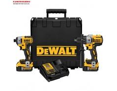 Combo máy khoan và vặn vít DCD996 + DCF887 + 2pin 4Ah + sạc DCB115 + Valy  DEWALT DCK299M2