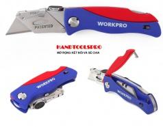 Dao rọc cáp gấp gọn tiện ích WORKPRO W011009, có lưỡi thay thế