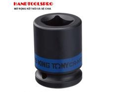 Đầu tuýp vuông đen ngắn 3/4 inch 21mm Kingtony 651421M