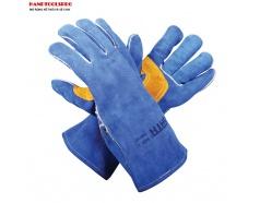 Găng tay da bò cách nhiệt cao cấp Sata FS0107