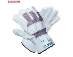 Găng tay da bò công nghiệp 2 lớp Sata FS0101