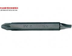 Mũi Vít 2 Đầu bake +dẹp PZ2x60mm KINGTONY 1360552Z (vỉ 10 cây)