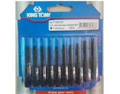 Mũi xiết vít bông T50 dài 50mm Kingtony 715050T (vỉ 10 cây)