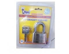 Ổ khóa trắng chống cắt chìa điện tử 50mm Yeti 2018
