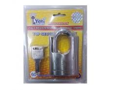 Ổ khóa trắng chống cắt chìa điện tử 60mm Yeti 2018