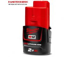 Pin sạc Li-Ion Milwaukee M12B2 RedLithium (12V:2Ah)